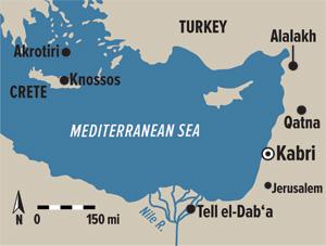 Tel Kabri map