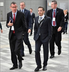(l) Israel envoy to UK Mark Regev (r) Mossad spy Shai Masot
